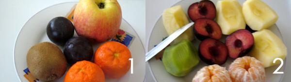 ricette frutta Cubo frutta, composizione di frutta fresca divertente