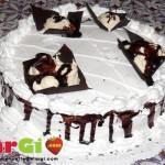 Torta di Margi con triangoli di cioccolata