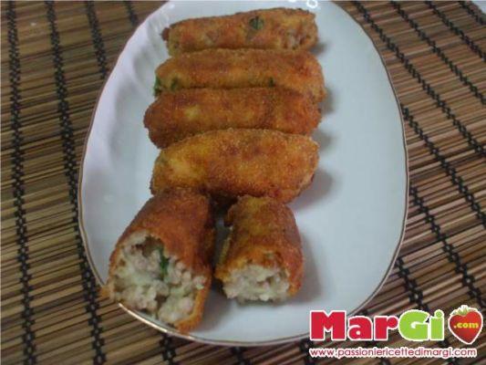 crocchette di patate con carne