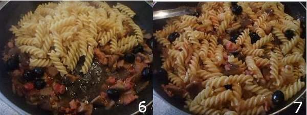 Fusilli con funghi e pancetta ricette primi piatti for Primi piatti semplici