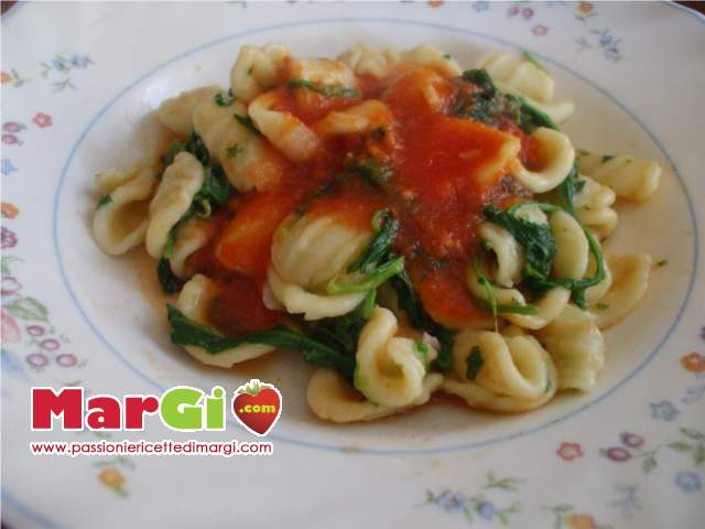 orecchiette con rucola Orecchiette con rucola e finocchietto selvatico