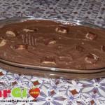 Torta gelato fatto in casa al cioccolato e Kinder Bueno