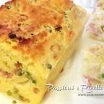 Plumcake salato prosciutto e piselli