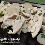 Pollo e topinambur in padella
