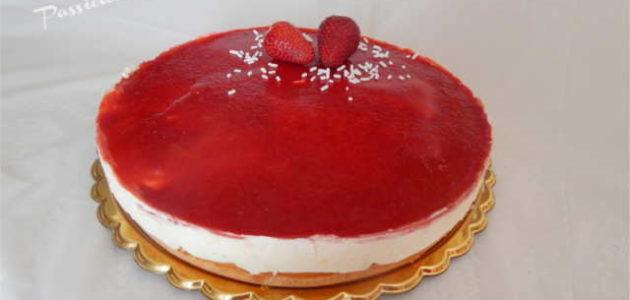 torta gelato alle fragole