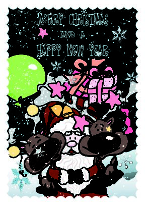 Cartoline di auguri con babbo natale for Cartoline di auguri per natale