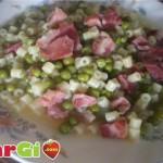 Pasta con pancetta e piselli:ricette primi piatti
