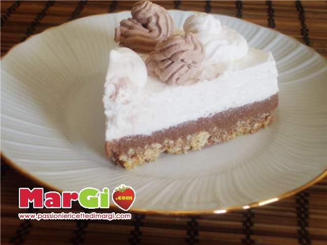 torta gelato al cioccolato e crema