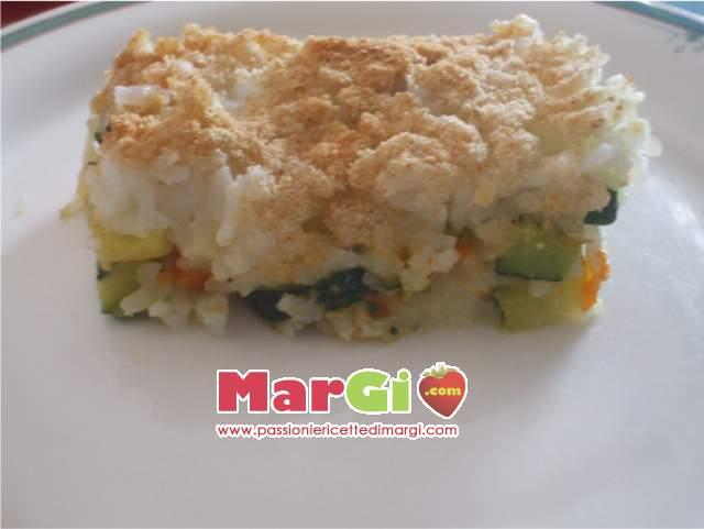 sformato di riso con zucca senza uova