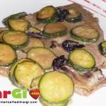 Vitello con zucchine e radicchio