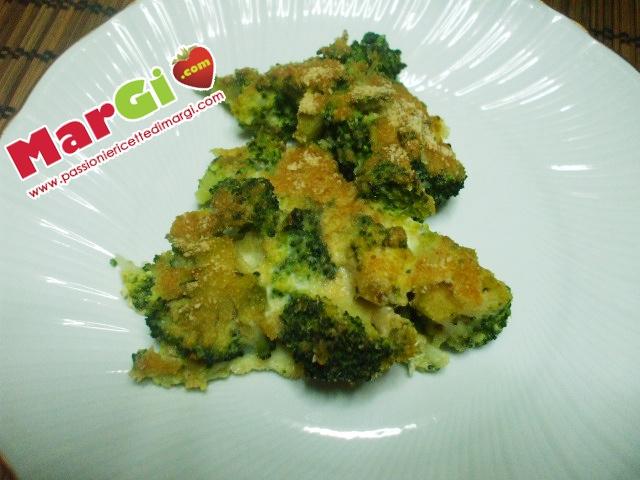 Broccoletti gratinati contorno di verdure