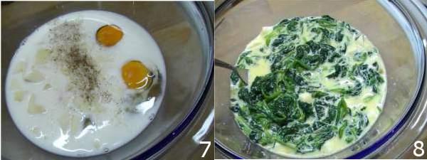 piatti con spinaci