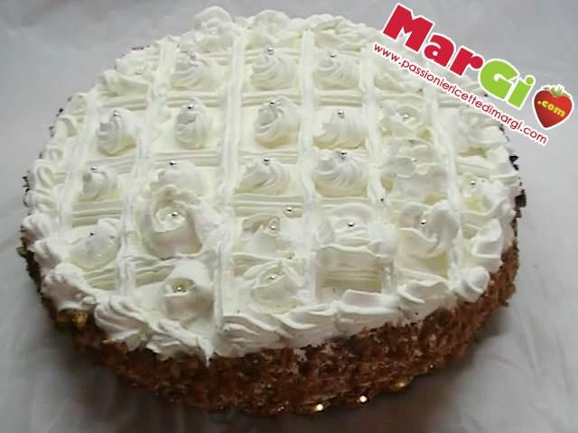 torta con panna a griglia