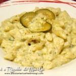 Pasta con crema di zucchine e robiola