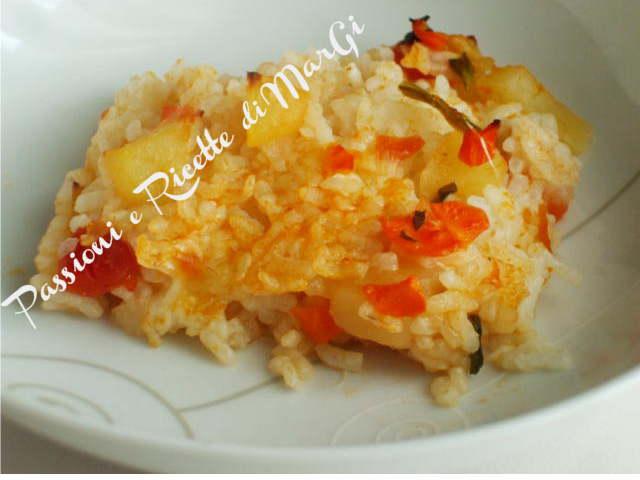 riso e patate al forno