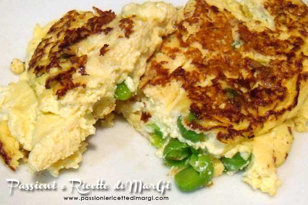 Omelette ricotta e piselli