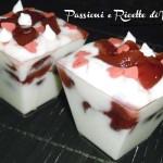 Parfait di yogurt magro e ciliegie