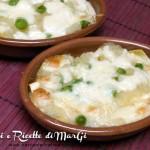 Lasagna bianca con patate e piselli