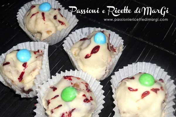 Occhi di Halloween ricetta dolcetti