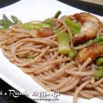 Pasta al farro con asparagi e pancetta