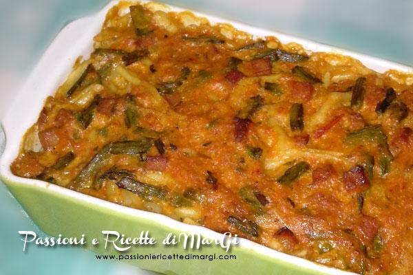pasta con asparagi e carote