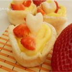 cestini dolci di pasta brise