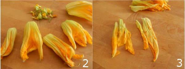 primi piatti fiori di zucca