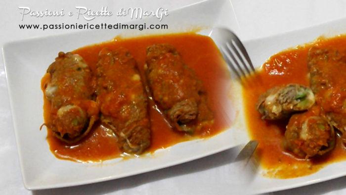 involtini di carne zucchina e mozzarella