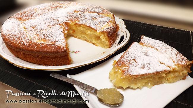 Torta con crema e marmellata di limoni