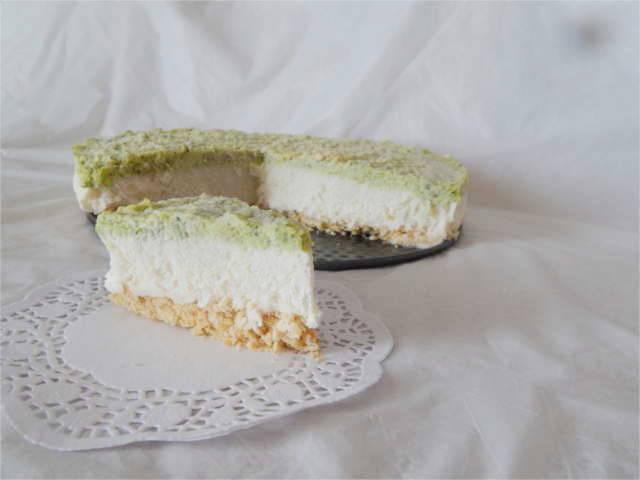 cheesecake salata con pesto di zucchine