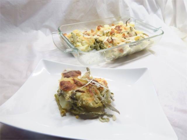 Fagiolini e patate al forno