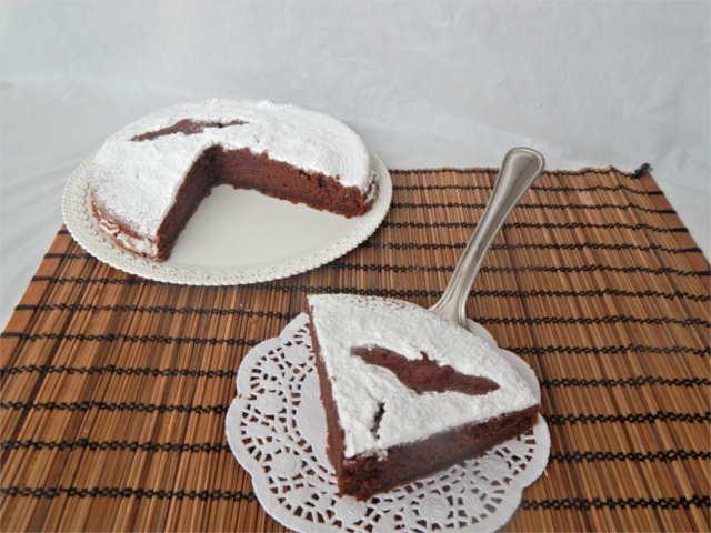 torta morbida al cioccolato e zucca