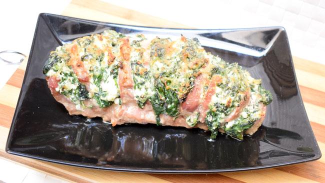 Filetto di maiale al forno farcito