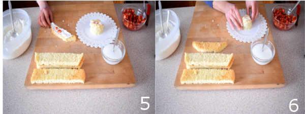 torta con panna e fragole 5 6