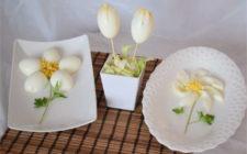 uova sode a forma di fiore