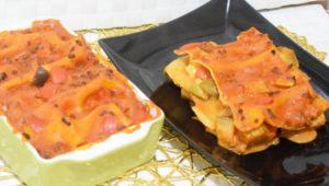 Lasagne con melanzane zucchine e peperoni