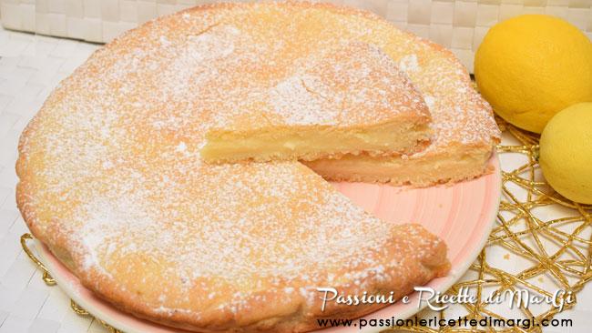 Crostata di crema pasticcera al limone